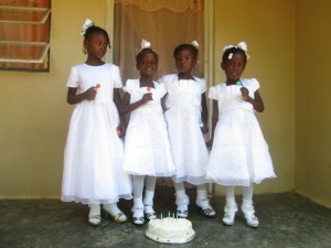 March 28th, 2015 we baptized our children in the orphanage to welcome them into the Catholic faith and to free them from the original sin they were born with, just like we welcome them to our family 3 years ago.
