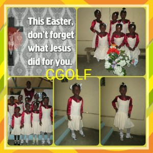 Our little blessings in Haiti celebrating the resurrection of the our savior Jesus by giving him glory at the church singing with the choir. We are not only giving our children in the orphanage a place to call home, education, food, medical needs and security we are also raising them as little believers to Jesus our savior and Christian.