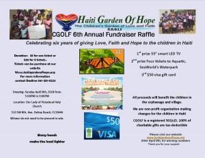 CGOLF 6th annual fundraiser flyer