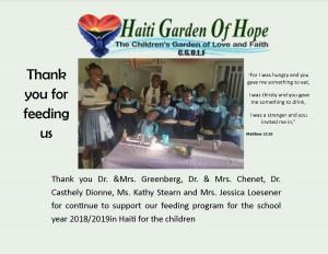 thank card school 2018 2019 feeding program