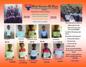 school flyer sponsor 2019 2020 in the orphange