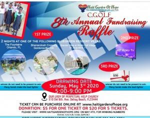 cgolf 8th annual raffle flyer